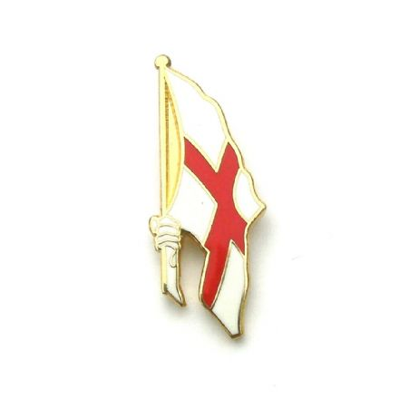 St George Hand Flag England Badge